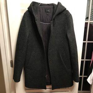 Men's J Crew Wool Hooded Coat